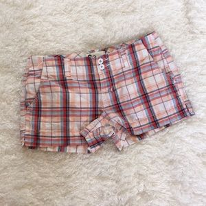 Like new so plaid shorts size one. Never worn.
